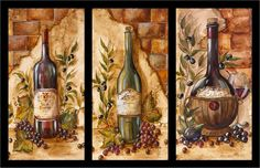 "Photo from album ""ВИННЫЕ ПОСТЕРЫ"" on Yandex. Wine Bottle Art, Wine Art, Decoupage Vintage, Decoupage Paper, Fruit Painting, Painting On Wood, Wine Glass Drawing, Wine Decor, Victorian Art"
