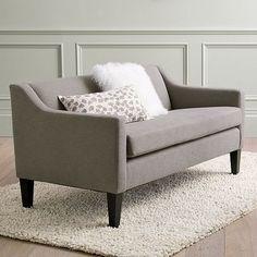 Sutton Sofette - modern - love seats - West Elm