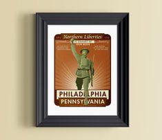 Philadelphia wall decor  Philadelphia gift  by nolibsdesign