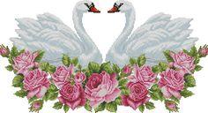 Embroidery Patterns Free, Cross Stitch Patterns, Cross Stitching, Cross Stitch Embroidery, Swan Jewelry, Cross Stitch Rose, Face Art, Needlework, Diy And Crafts