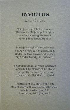 Invictus Poem Art