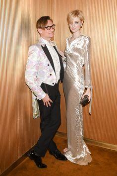 Elizabeth Debicki wearing Bally at the Vogue Magazine MET Gala After Party.