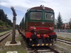 At Campo di Giove station.