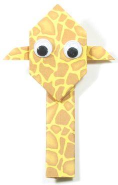 How to make an easy origami giraffe (http://www.origami-make.org/easy-origami-giraffe.php)