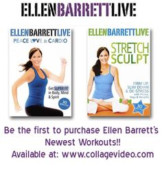 Ellen Barrett's Peace, Love & Cardio and Stretch & Sculpt are now in stock!! Place your order here: http://www.collagevideo.com/collections/ellen-barrett #fit #fitness #workout #workoutdvds #fitnessdvds #success #ellenbarrett #yoga #pilates #ballet