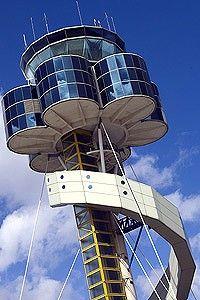 air traffic control tower at Mascot.