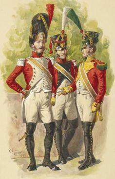 Granatiere, fuciliere e Volteggiatore del regno di Napoli