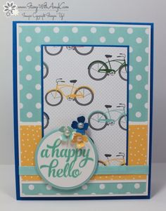 by Amy: Tin of Cards, Schoolhouse dsp, Itty Bitty Accents flower punch, & more - all from Stampin' Up!