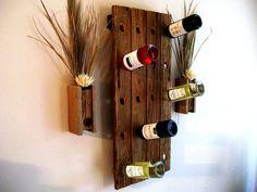 Rustic / Reclaimed / Barn Wood Wine Bottle Rack / Riddling Rack via Etsy. @Jenn L Milsaps L Boatman