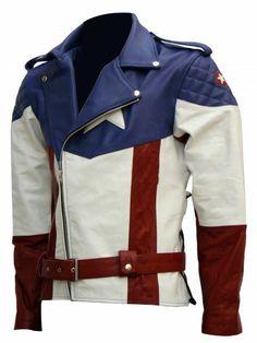 New Captain America Chris Evans Premium Quality FAUX Leather Jacket