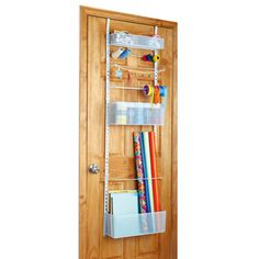 Recollections™ Over the Door Metal Storage Rack makes organization easy