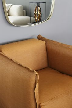 Piet Boon | Our FEDDE chair with the new KEKKE mirror and in the reflection art of Pleunie Buyink. Styling: Studio Piet Boon Styling. Credits: Enrico Conti.