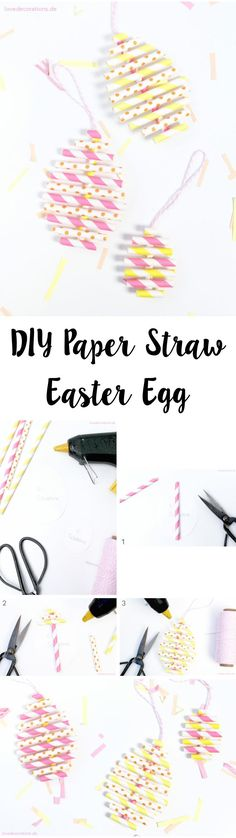 See related links to what you are looking for. Cool Diy Projects, Projects For Kids, Crafts For Kids, Diy Crafts, Spring Decoration, Love Decorations, Diy Ostern, Paper Straws, Easter Crafts