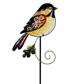 Look at this #zulilyfind! Glass Bird Garden Stake #zulilyfinds