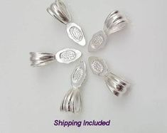 Bails for pendants   Etsy Glass Jewelry, Unique Jewelry, Swarovski Pendant, Diy Jewelry Supplies, Jewelry Companies, Jewelry Findings, Sterling Silver Pendants, Jewelry Making, Etsy