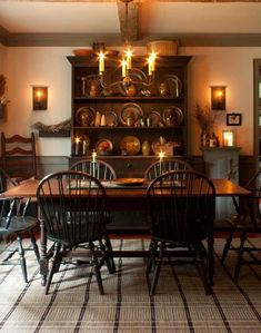 From Early American Country Interiors by Tim Tanner #PrimitiveHomes #PrimitiveDiningRooms