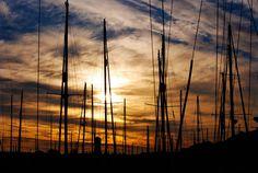 #boats #harbourside #masts #night #sunset