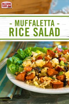 An easier way to enjoy classic muffaletta, with greens, rice and all the same great fixings. Drizzle on a sweet oil and vinegar dressing to finish off this easy to serve and easy to make Hillshire Farm® Smoked Sausage dish.