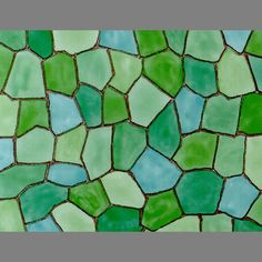 Stained Glass Taormina Green self adhesive window contact paper: 200x3073   Privacy Window Film Decorative Adhesive Vinyl Glass Covering