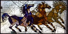 Running-Horses-Stained-Glass-Panel