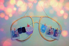 Diy Expositor de fotos em forma de óculos Rayban  estilo Tumblr Decor