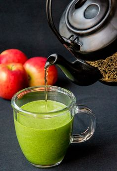 Hot green smoothie   from Kitchen Sanctuary   A quick and healthy hot smoothie for a cold day! So easy - just four ingredients!