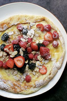 This German-style pancake grows up the sides of the pan and forms an amazing, thick, crêpe-y pancake just yearning to be filled with all of your favorite ingredients. Auflauf is a weekend breakfast family treat that my grandmother taught my mom to make when she married my dad. I used to beg for this every weekend, as a kid.