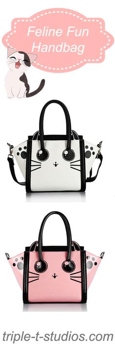 The Feline Fun Handbag!  Because girls and cats just want to have fun! #catlover #handbags