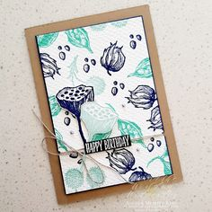 Stamping Beauty: AROUND THE WORLD ON WEDNESDAY | THE MARKET - ALL ABOUT TEXTURE! Birthday Cards For Men, Birthday Greeting Cards, Greeting Cards Handmade, Sweet Gum, Stamping Up Cards, Cards For Friends, Flower Cards, Artisanal, Creative Crafts