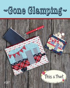 Gone Glamping – Zippered Pouches A digital sewing pattern by Sherri K. Falls of This & That Patterns