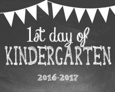 First Day of School Photo Props - Kindergarten thru Grade Chalkboard Theme School Chalkboard, Chalkboard Signs, Chalkboards, 1st Day Of School, Back To School, School Starts, School Stuff, First Grade, Second Grade