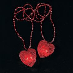 Valentine Necklaces with Light-Up Heart - OrientalTrading.com