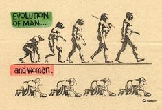 Evolution of man. Sounds about right!