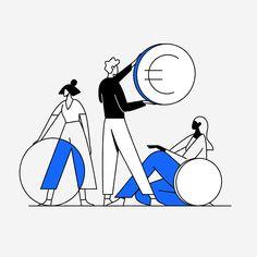 Basic Income on Behance Simple Illustration, Business Illustration, Character Illustration, Digital Illustration, Graphic Illustration, Line Illustrations, Website Illustration, Design Thinking, Storyboard