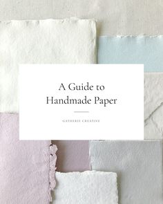 A guide to our favorite handmade paper vendors, the variances between each paper type, and what printing process works best with each handmade paper. | Gatherie Creative