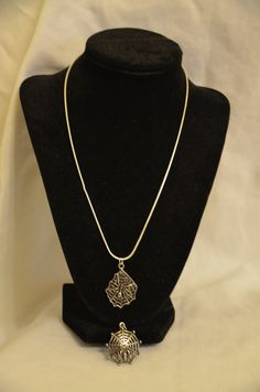 Spider Web Necklace with Extra Charm  ~ Silver Snake Chain ~ by DivinityBraid on Etsy