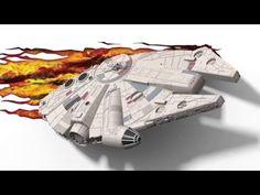 Star Wars Millennium Falcon fali lámpa 3D Light FX