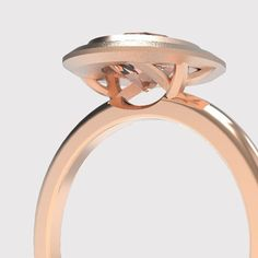 """BRANCHES  It is in the details of the new """"Branches"""" Halo Engagement Ring that the name of the pieces is revealed. The open under carriage of the setting is supported by 2 sets asymmetrical branches, giving it a minimalistic yet whimsical feeling.  #jewellery #design #minimalist #geometric #fractals #canadianfashion #madeincanadamatters #madeinottawa #ottawastyle #engagement #ring #wedding #bridalfashion #ottawabride"""