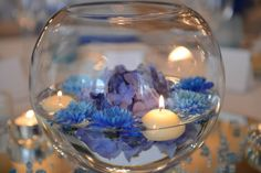 Blue centrepiece by Algarve Wedding Planners