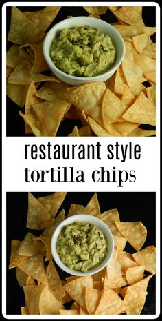 restaurant style Homemade tortilla chips take just minutes to fry up and you are going to get a restaurant style chip right at home. You could bake but these are too good! Flour Tortilla Chips, Fried Corn Tortillas, Homemade Corn Tortillas, Homemade Tortilla Chips Baked, Tortilla Recipes, Frites Restaurant, Chips Restaurant, Mexican Chips, Nacho Chips