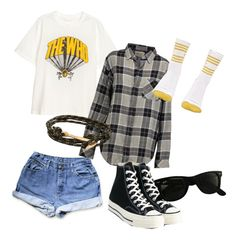 """""""who?"""" by theinvincibleturtle on Polyvore featuring Current/Elliott, OBEY Clothing, Converse, Ray-Ban and MIANSAI"""