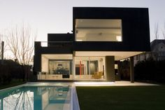 The Black House in Buenos Aires, Argentina by Andres Remy Arquitecto