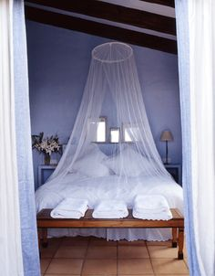 Something about sleeping under a net is calming and romantic