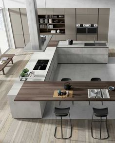 87 modern kitchen ideas and decorations for kitchen design Luxury Kitchens Decorations Design Ideas Kitchen Modern Luxury Kitchen Design, Kitchen Room Design, Kitchen Cabinet Design, Luxury Kitchens, Home Decor Kitchen, Modern House Design, Interior Design Kitchen, Kitchen Modern, Modern Kitchens