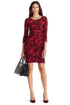 Zoe Sleeved Silk Tie Dress In Floral Daze Black