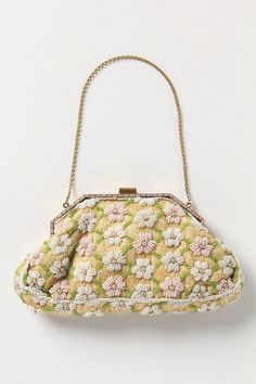 Vintage Beaded Daisy Purse