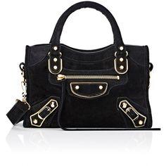Balenciaga Women's Metallic Edge Mini City ($1,455) ❤ liked on Polyvore featuring bags, handbags, balenciaga handbags, balenciaga bag, balenciaga purse and balenciaga