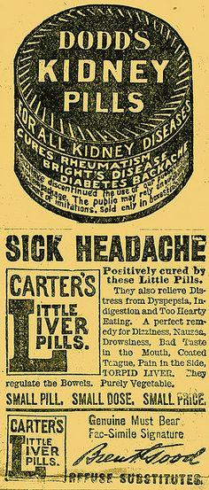 Dodd's Kidney Pills - Carter's Little Liver Pills.