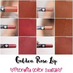 Swatch in the new Golden Rose Liquid Matte Lipstick, the entire collection - FEO. - Swatch in the new Golden Rose Liquid Matte Lipstick, the entire collection – FEONALITA – - Golden Rose Lipstick, Golden Rose Cosmetics, Berry Lipstick, Lipstick For Fair Skin, Lipstick Shades, Matte Lipstick, Crayon Lipstick, Lipstick Swatches, Lipsticks