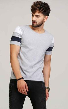 Description Code Fabric Material Cotton Pattern Type Solid Color Colour Grey Style Casual Sleeves Half Sleeves Neckline Round Neck Fit Type Regular Fit Size Guide Below are body measurement S M L XL XXL Chest Size 36 38 40 42 44 Shi Mens Polo T Shirts, Boys T Shirts, Mens Tees, T Shirt Men, Mens Designer Polo Shirts, Mens Cotton T Shirts, Casual T Shirts, Men Casual, T-shirt Broderie